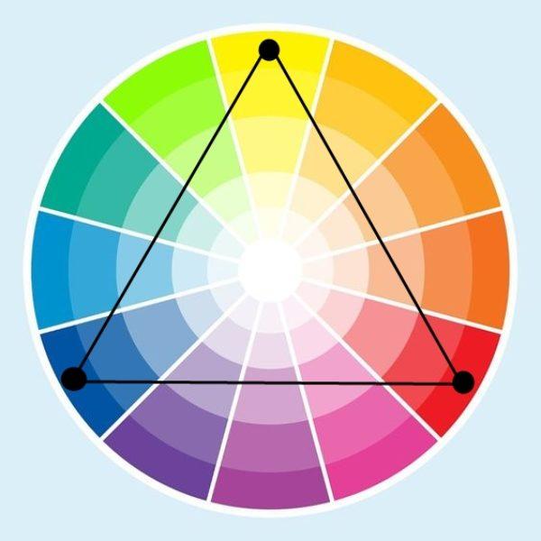 kolory triada kolo barw
