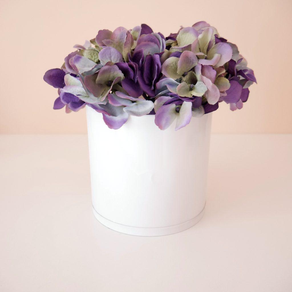 jak zrobić flower box ze sztucznych kwiatów diy