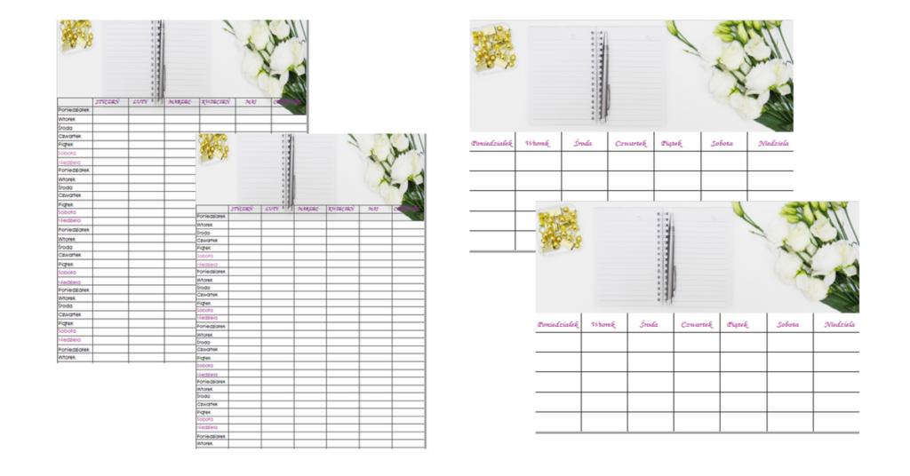 kalendarz do druku na 2018