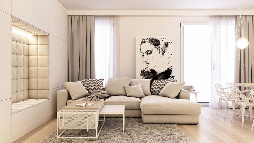 nowoczesny salon inspiracje i aranżacje