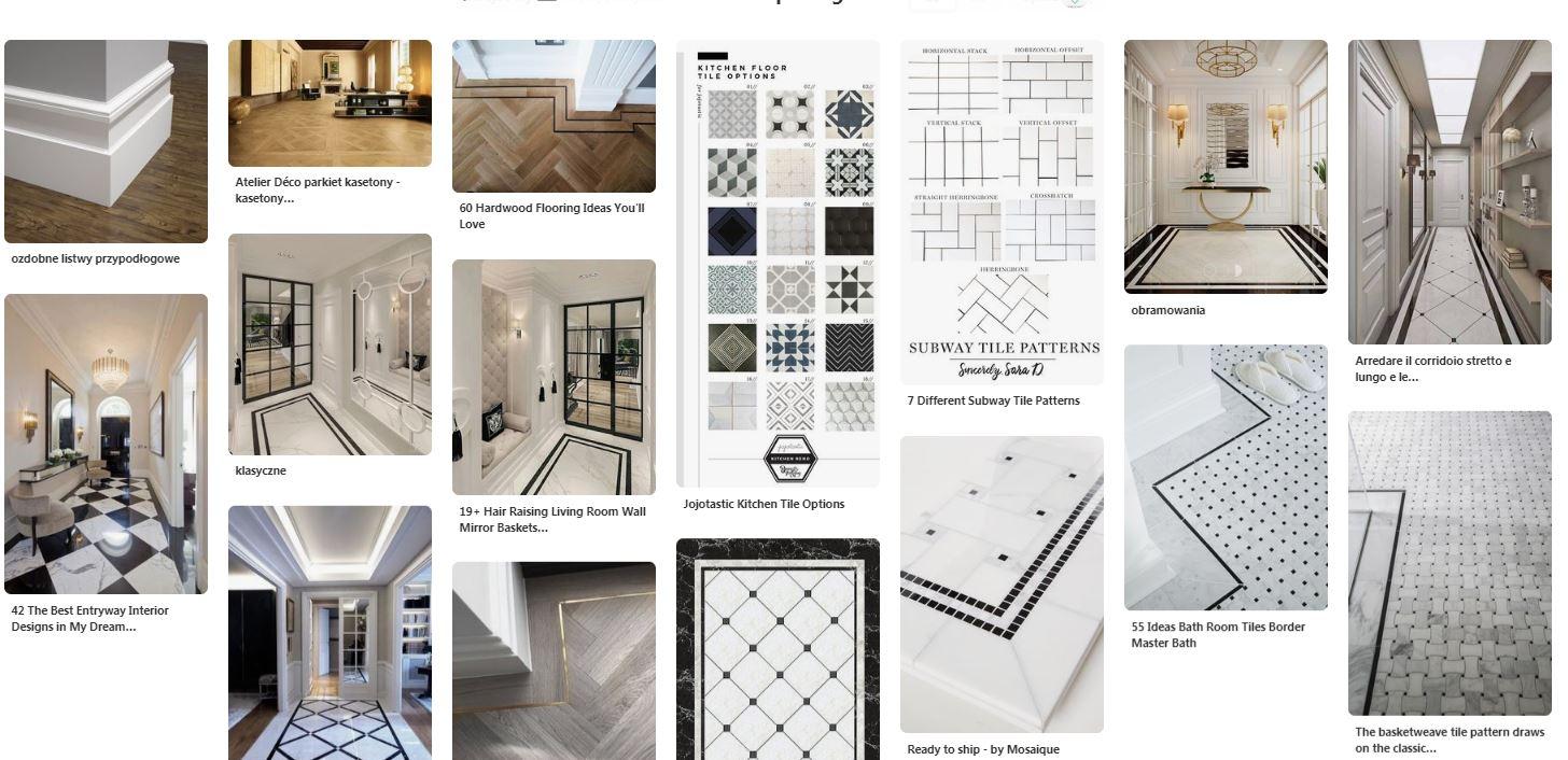 styl klasyczny podłoga